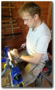 Rob in the his workshop