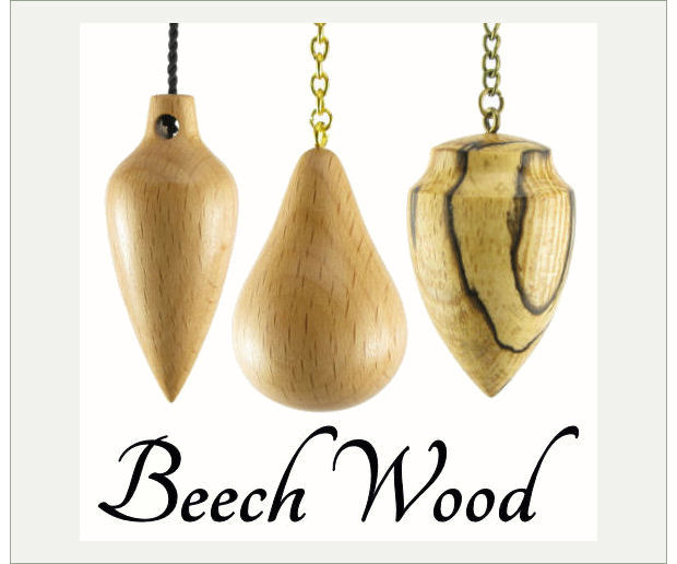Beechwood Pendulums for Dowsers and Brennan Healers